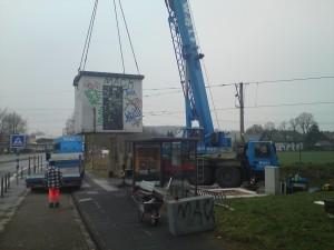 neuer Betoncontainer