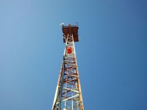 DL5DAA am 12. August 2012 auf dem Mast